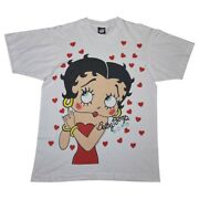 Vintage 80s 1988 Betty Boop T Shirt Size Large Aop Screen Stars Best Tag