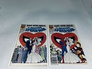 1987 Amazing Spiderman Annual 21 Both Variant Covers Wedding Issue Fn/vf