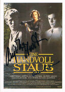 Alec Guinness 1914-2000 And Anjelica Huston 1941- Autograph Signed Poster Card