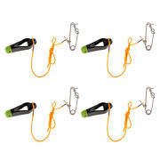 4x Heavy-duty Outrigger Power Grip Snap Release Clip For Fishing Black