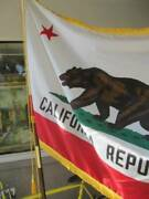 Annin And Co 1975 California Republic Flag Usa Vintage West Coast 70and039s Used
