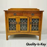 Drexel Heritage American Review Arts And Crafts Mission Cherry Buffet Sideboard