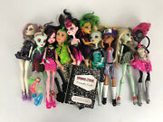 Lot Of 10 Monster High Doll With Clothes, Shoes/boots Brushes Accessories
