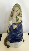 Vintage Rj Drinkwater Baba Yaga Pottery Kitchen Witch Coin Bank 1980