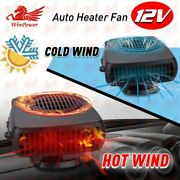 12v 150w Car Portable Cooling Fan Demister Defroster Dc Electric Heater Auto Us