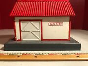 American Flyer Tool Shed, Red Roof