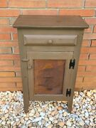 Vintage Rustic Country Primitive Hall Table Plant Stand Shelf Star Wooden Accent