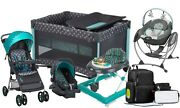 Baby Stroller Travel System With Car Seat Bag Playard Swing Infant Walker Combos