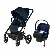 Cybex Balios S/aton M Baby Travel System With Infant Car Seat Toddler Boys Blue