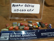 Lot 31 Authentic Ancient Roman Empire Unusual Bead Artifacts 1st-3rd Century