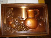 Vintage/antique Coppercraft Guild Taunton Mass Copper And Plastic Wall Hanging.