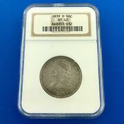 1839 O Capped Bust Half Dollar Reeded Edge Important 2 Year Type Coin Ngc Xf40