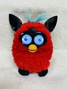 Hasbro Furby Boom Figure Red And Black Interactive Blue Talking Toy 2012 Works