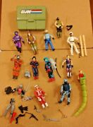 Gi Joe Vintage 1980s Lot - 13 Action Figures With Accessories And Case