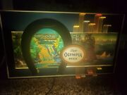 Vintage Rare Light Olympia Beer Lighted Motion Waterfall Sign Horseshoe Beer Bar