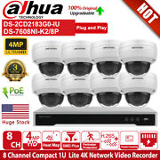 Hikvision 4k Security Systems 8ch Poe Mic Camera Ds-2cd2183g0-iu Ds-7608ni-k2/8p