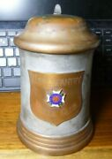 Vintage Us Army 71st Infantry Division Beer Stein Rifle Club