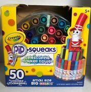 Crayola 588750 Pip-squeaks Telescoping Marker Tower Washable Assorted 50