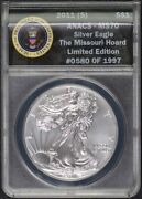 2011 To 2014 S 1 Silver Eagle Set Anacs Ms-70 Missouri Hoard 4 Coins