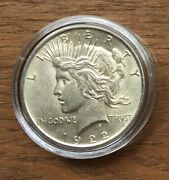 Ct08 Usa Us United States 1922 1 Silver Bu Unc Peace Dollar In Capsule