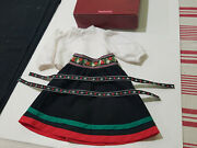 American Girl Kirsten Winter Skirt And Blouse Outfit W/burgundy Box Ribbons 8g6