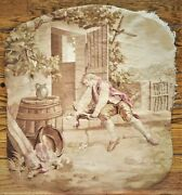 A 19th Century Armchair Aubusson Tapestry Cover