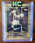 1/1 Spectra Courtland Sutton Gold Fireworks Fabric Nike Patch 2020 Broncos