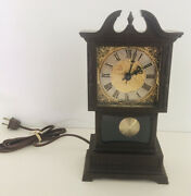 Vintage Miniature Electric Grandfather Clock By Sunbeam Nos Replacement Parts