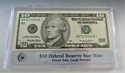 1999 10 Federal Reserve Star Note B In Pcs Stamps And Coins Holder
