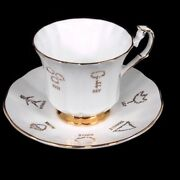 Red Rose Tea Cup Of Fortune 1 Taylor And Kent English Bone China Cup And Saucer