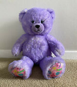 Build A Bear Neon Purple Candy Pop Bear With Frozen Song Sound
