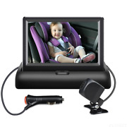 4.3and039and039 Car Hd Baby Monitor Rear View Camera Cigarette Lighter Safety Driving Kit