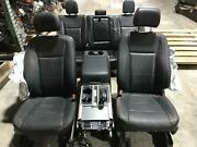15-19 Ford F150 Black Leather Lariat Seat Set Front/rear/console