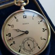 A Stunning And Rare Vintage 1930and039s Mens Rolex Pocket Watch Solid Silver Gwo Cased