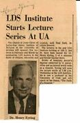 Chemical Reaction Rates Henry Eyring Signed Newspaper Article Todd Mueller Coa