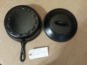 Scarce Vintage Lodge Scalloped Sauce Pan Set Restored Very Nice Condition