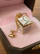 Nib Juicy Couture Chinese Takeout Box With Fortune Cookie Charm Rare Yru1830