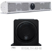 Wet Sounds Package White Stealth 6 Ultra Soundbar As10 10 Powered Stealth Sub