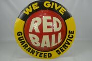 Redball Advertising Sign Circa 1960and039s-70and039s In Nice Condition 24