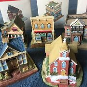Liberty Falls Americana Collection 1994 Lot Of 5 Buildings All Boxes Vintage