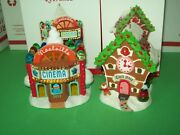 Hallmark Lot Clock Shop And Cinema 8th And 10th Noelville 2013-15 Ornaments
