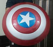 Captain America Shield 24 Inches Full Metal Cosplay Avengers Marvels