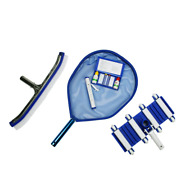 Deluxe Swimming Pool Kit - Vacuum Leaf Skimmer Wall Brush Thermometer And Test K