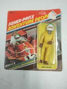 1979 Fisher Price Adventure People Indy Driver New Moc Unpunched 387