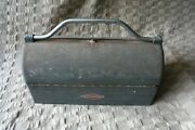 Vintage Craftsman Toolbox Tool Box Dome Top Lunchbox Mailbox Style