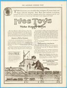 1914 Ives Manufacturing Bridgeport Ct Miniature Toy Railway System Train Set Ad