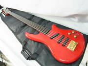 Vestax Bv-v/ch 5 String Cherry Red Electric Bass Guitar Shipped From Japan
