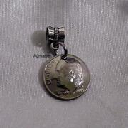 1971 Dime Bracelet Charm 3-d Pendant 50 Birthday Gift Or Pick Any Year 45 35 25