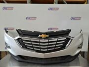 18-19 Chevy Equinox Oem Front Bumper Assembly Painted White With Grilles