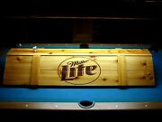 New Miller Lite Pool Table Light And Cue Rack Combo